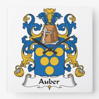 Escudo de la familia de Auber Reloj