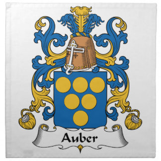 Escudo de la familia de Auber Servilletas