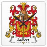 Escudo de la familia de Aubert Reloj