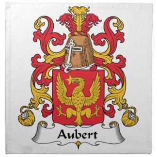 Escudo de la familia de Aubert Servilleta Imprimida