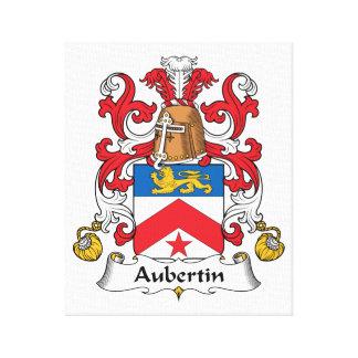 Escudo de la familia de Aubertin Impresión En Lona