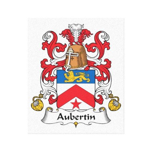 Escudo de la familia de Aubertin Lona Estirada Galerías