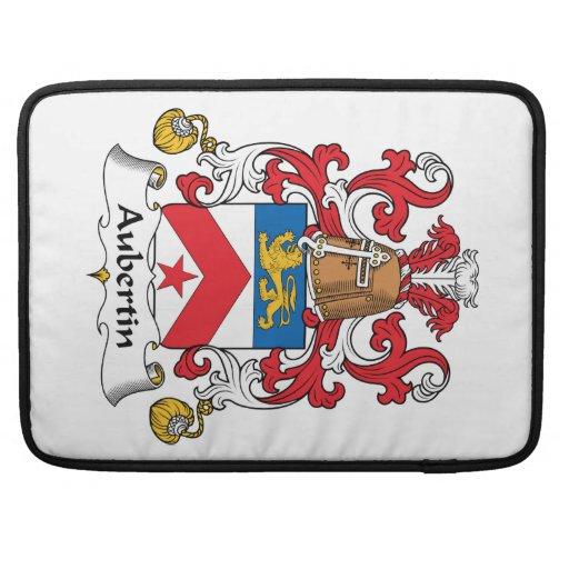 Escudo de la familia de Aubertin Funda Para Macbooks