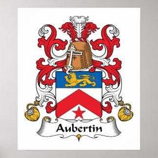Escudo de la familia de Aubertin Poster