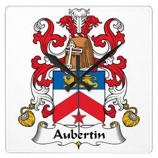 Escudo de la familia de Aubertin Reloj