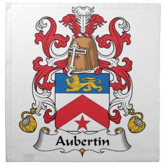 Escudo de la familia de Aubertin Servilletas Imprimidas