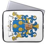 Escudo de la familia de Aubigne Funda Computadora