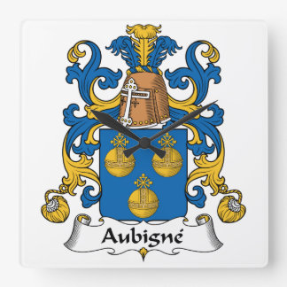 Escudo de la familia de Aubigne Reloj