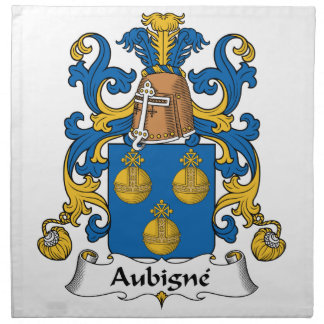 Escudo de la familia de Aubigne Servilletas De Papel