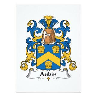 """Escudo de la familia de Aubin Invitación 6.5"""" X 8.75"""""""