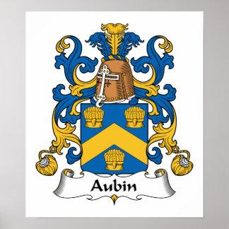 Escudo de la familia de Aubin Posters