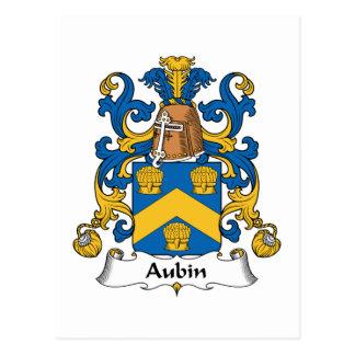 Escudo de la familia de Aubin Postal