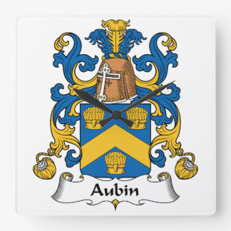 Escudo de la familia de Aubin Relojes