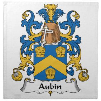Escudo de la familia de Aubin Servilletas De Papel
