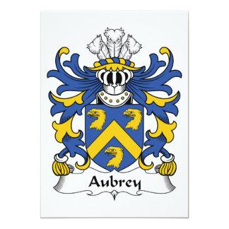 """Escudo de la familia de Aubrey Invitación 5"""" X 7"""""""