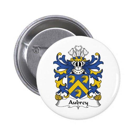 Escudo de la familia de Aubrey Pin Redondo 5 Cm