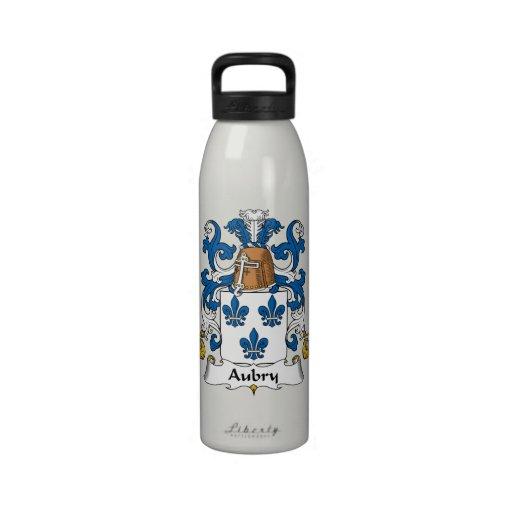 Escudo de la familia de Aubry Botella De Beber