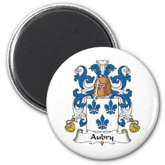 Escudo de la familia de Aubry Iman Para Frigorífico