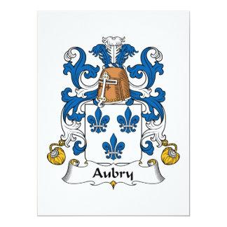 Escudo de la familia de Aubry Invitación 16,5 X 22,2 Cm