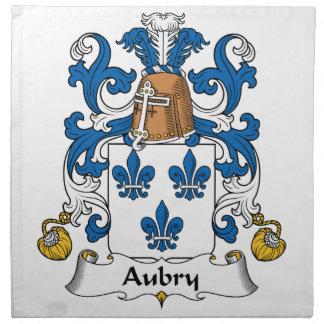 Escudo de la familia de Aubry Servilletas Imprimidas