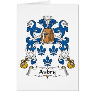 Escudo de la familia de Aubry Tarjetas