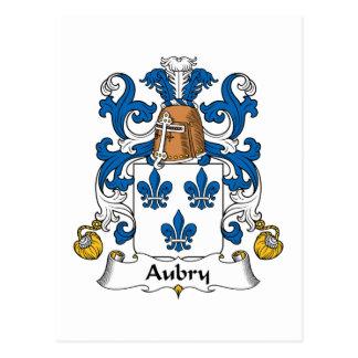 Escudo de la familia de Aubry Postal