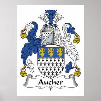 Escudo de la familia de Aucher Impresiones