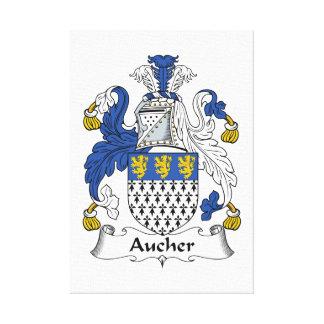 Escudo de la familia de Aucher Impresiones En Lienzo Estiradas