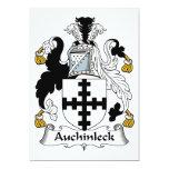 Escudo de la familia de Auchinleck Invitación 12,7 X 17,8 Cm