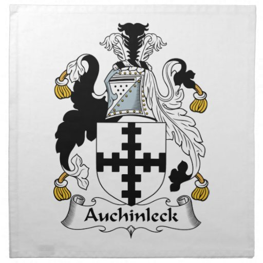 Escudo de la familia de Auchinleck Servilletas De Papel