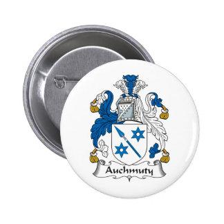 Escudo de la familia de Auchmuty Pin Redondo 5 Cm
