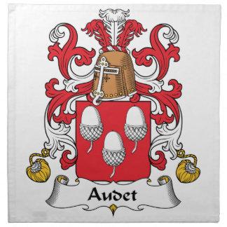 Escudo de la familia de Audet Servilletas Imprimidas