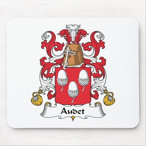 Escudo de la familia de Audet Alfombrillas De Raton