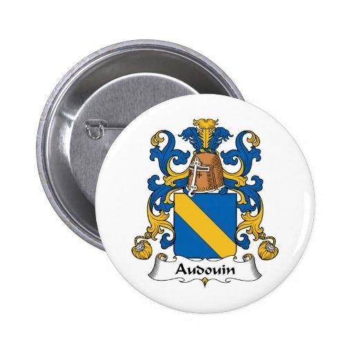 Escudo de la familia de Audouin Pin Redondo 5 Cm