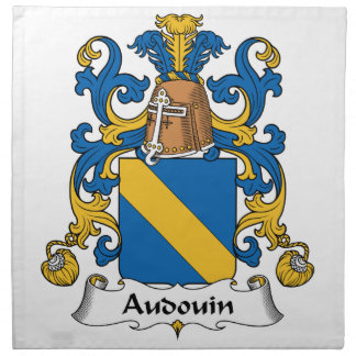 Escudo de la familia de Audouin Servilleta Imprimida