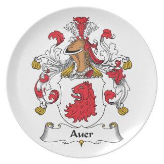 Escudo de la familia de Auer Platos