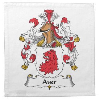 Escudo de la familia de Auer Servilletas