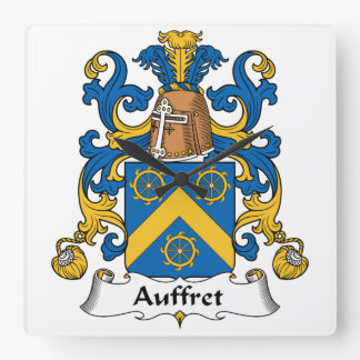 Escudo de la familia de Auffret Reloj De Pared