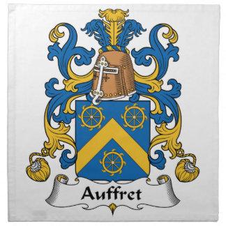 Escudo de la familia de Auffret Servilleta