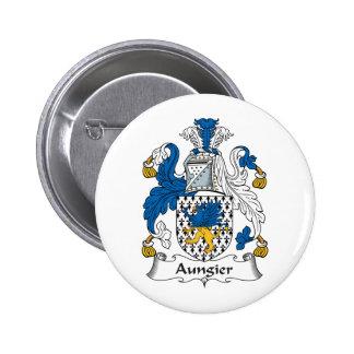Escudo de la familia de Aungier Pin Redondo 5 Cm