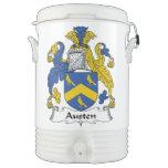 Escudo de la familia de Austen Enfriador De Bebida Igloo