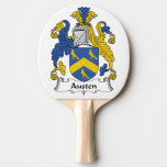 Escudo de la familia de Austen Pala De Tenis De Mesa