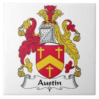 Escudo de la familia de Austin Azulejo Cuadrado Grande