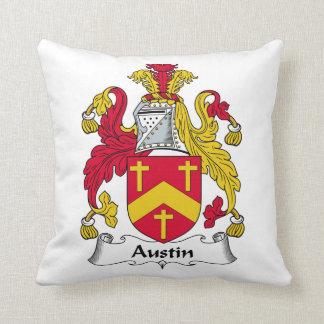 Escudo de la familia de Austin Cojin