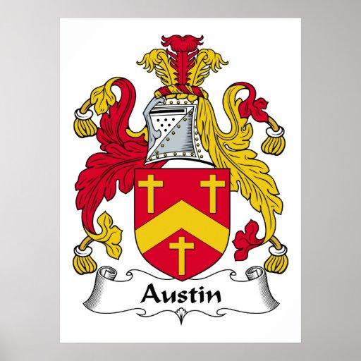 Escudo de la familia de Austin Impresiones