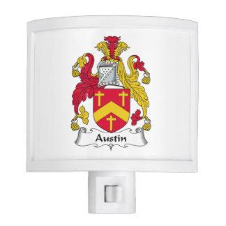 Escudo de la familia de Austin Lámparas De Noche