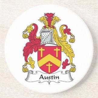 Escudo de la familia de Austin Posavasos Diseño