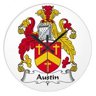 Escudo de la familia de Austin Reloj Redondo Grande