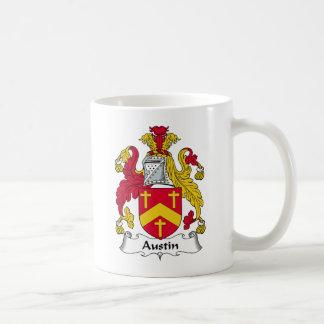 Escudo de la familia de Austin Taza Básica Blanca