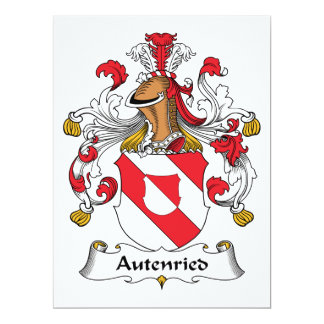 """Escudo de la familia de Autenried Invitación 6.5"""" X 8.75"""""""
